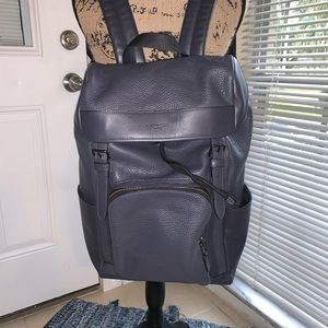 Coach navy backpack
